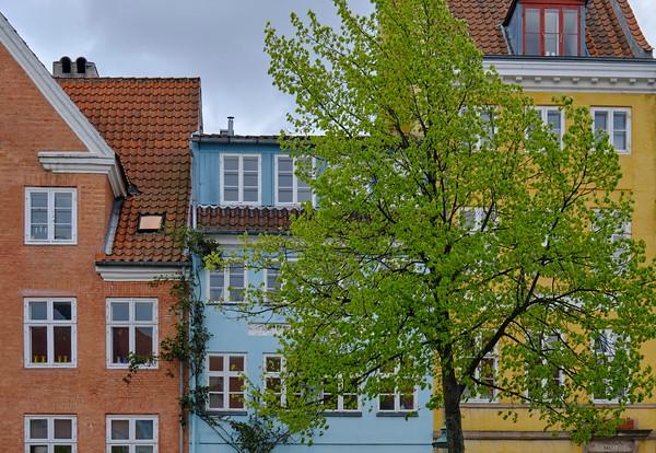 Colourful Houses alongside a canal