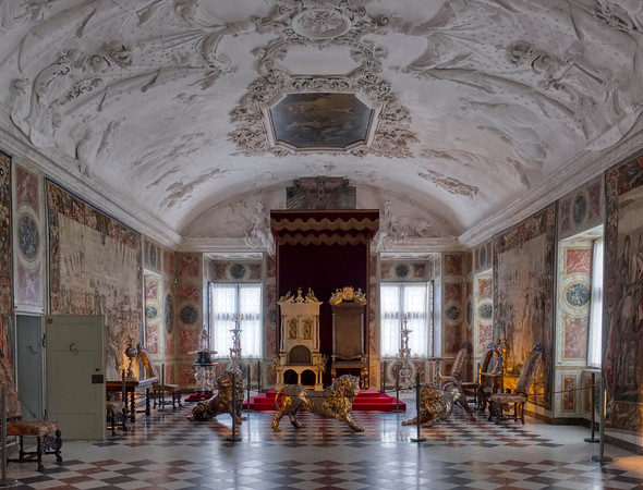 The Knight's Hall with the Three Sliver Lions, Rosenborg Castle