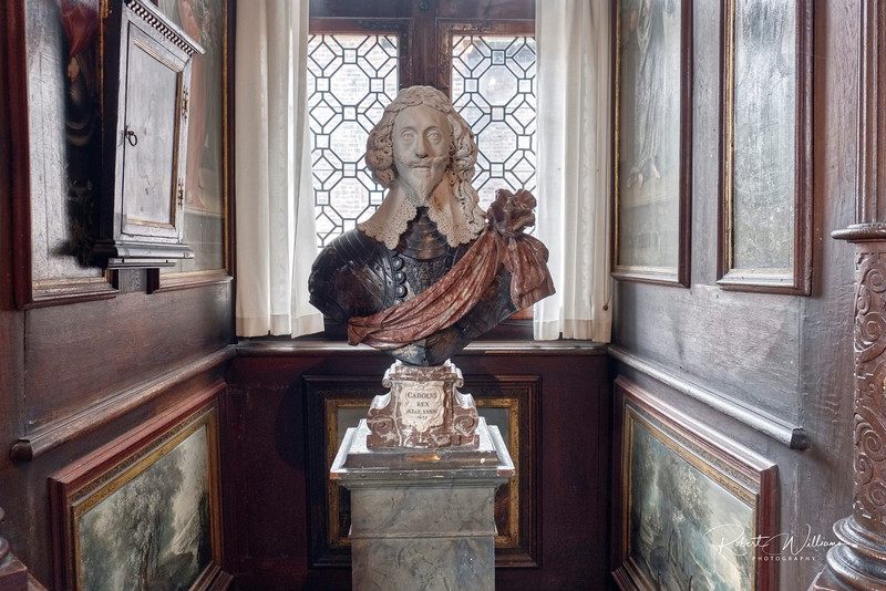 Bust of King Charles I of England in Rosenberg Castle