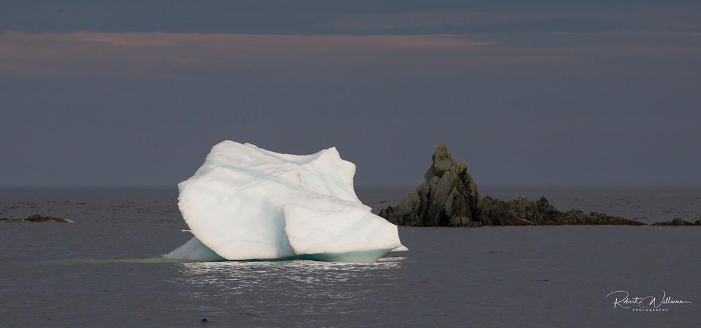 Iceberg in LIttle Harbour, Newfoundland