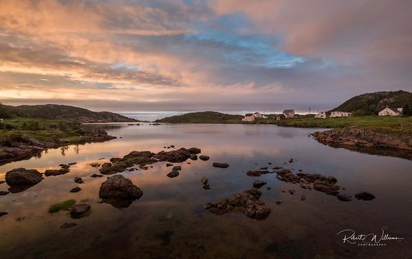 Salt Harbour at Sunset, Salt Harbour Island, Newfoundland