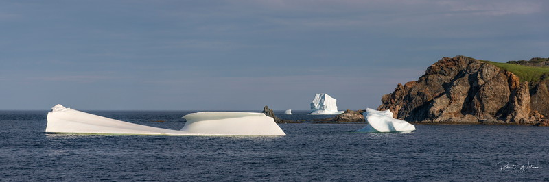Icebergs in Mutford's Cove, North Twillingate Island, Newfoundland