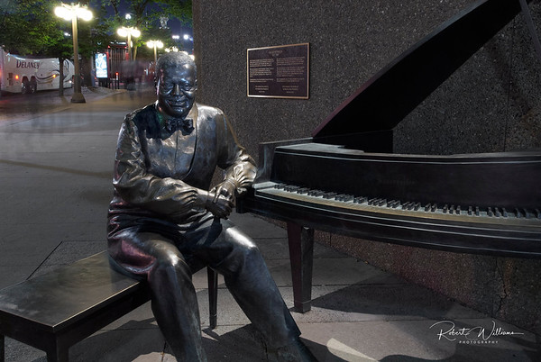 Statue of Oscar Peterson beside the National Arts Centre
