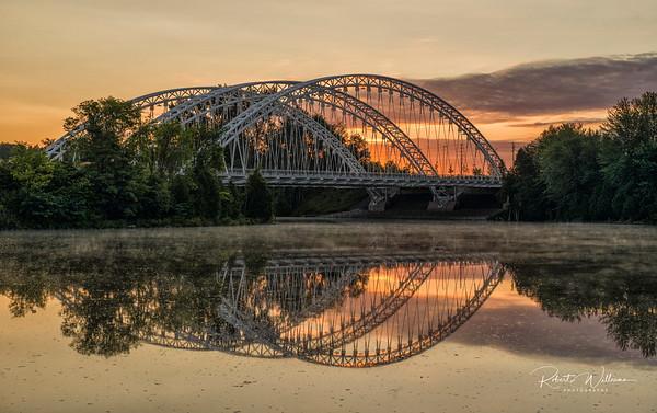 The Vimy Memorial Bridge over the Rideau River in Ottawa