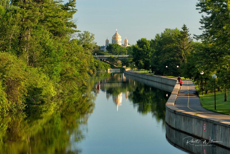The Rideau Canal and Ukrainian Catholic Shrine