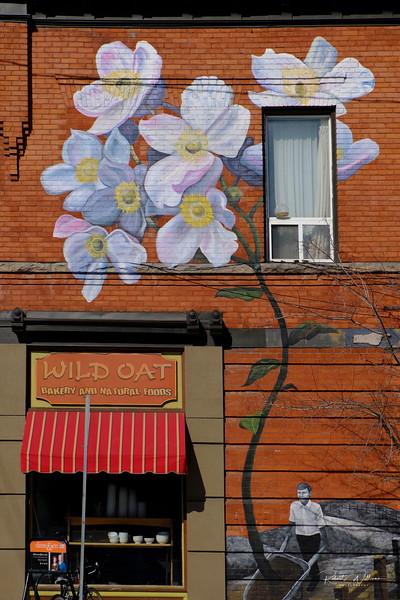 Mural on Brick Building, Bank Street, Ottawa