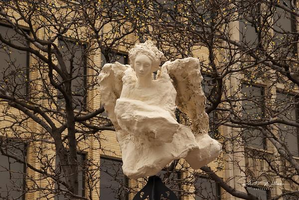 Angel watching over Rideau Street