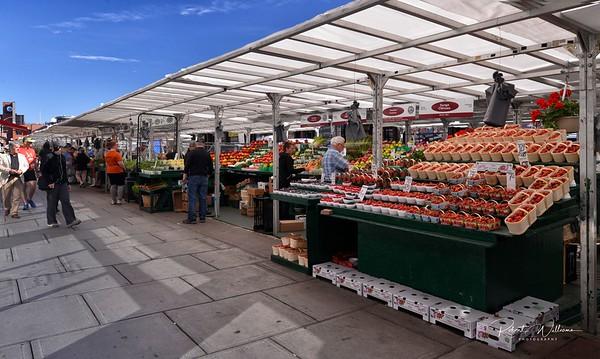 Stalls at the Byward Market
