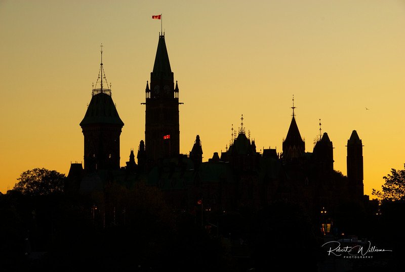 Sillouette of the Parliament Buildings