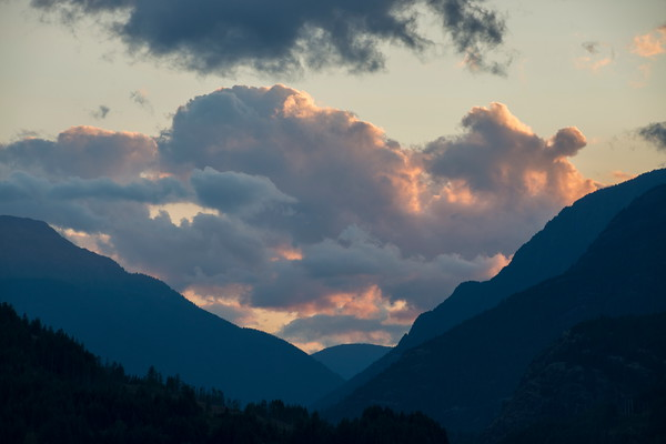 Sunset Clouds over Strathcona Park