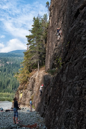 Climbing at Crest Creek Crags