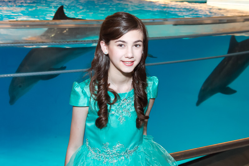 Arielle Bat Mitzvah Ceremony Photography at Aquarium