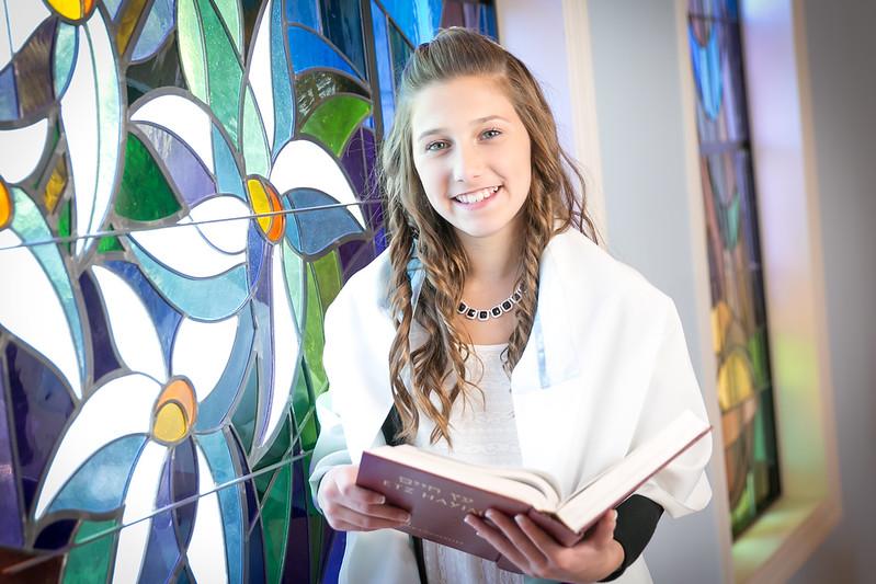 Danielle Bat Mitzvah Ceremony Portraits at Temple