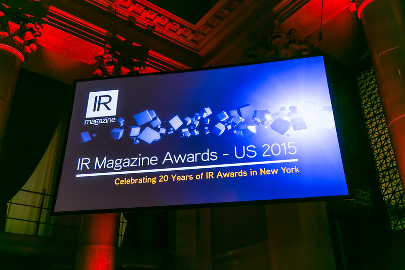 IR Magazine Awards 2015 Cipriani NY