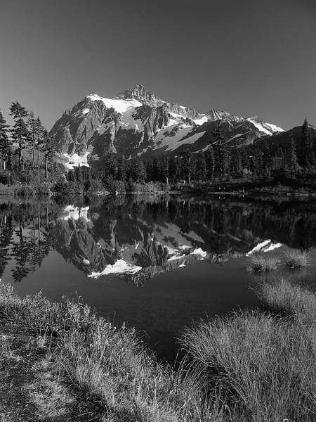 Alpine Reflection B&W by squirl033
