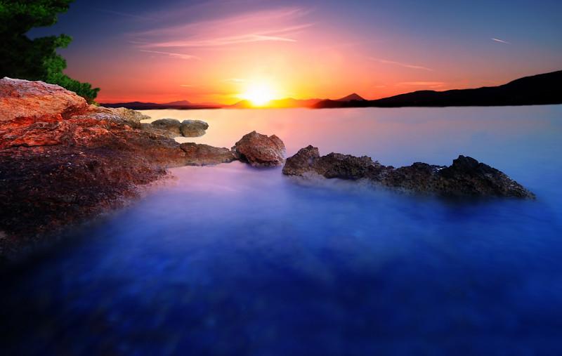 Rocky Sunset by Ivan Zeitlin