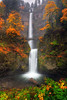 Multnomah Falls with Autumn Colors by William88