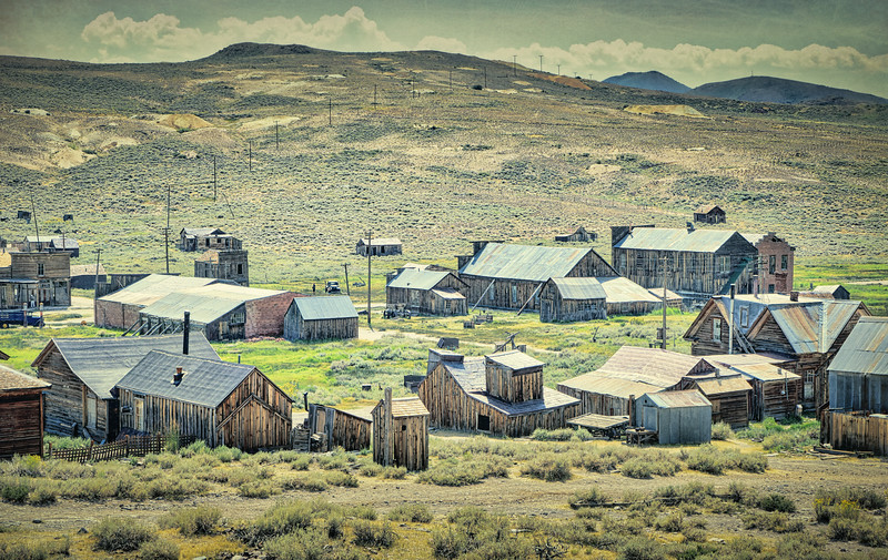 Looking down on downtown Bodie, or what's left of it