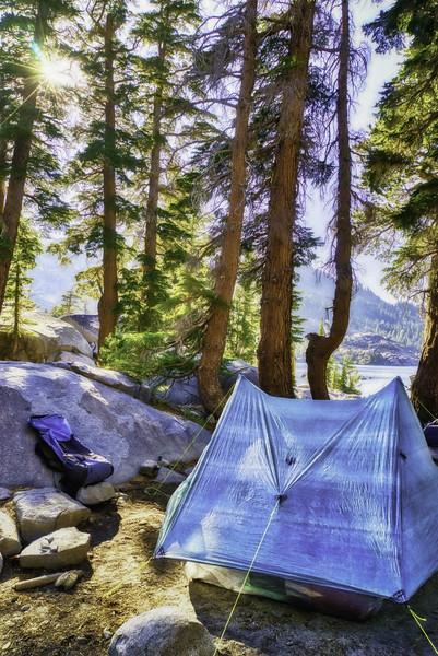 Camp by Fontanilis Lake