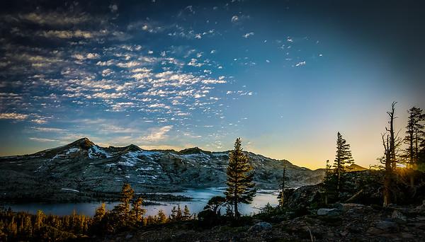 Sunset over Desolation Valley
