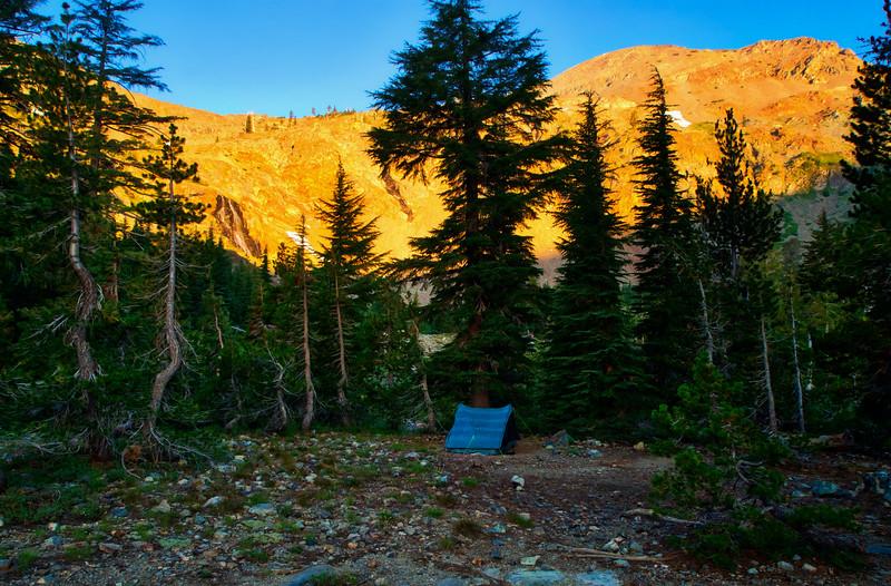 Campsite at Alta Morris Lake