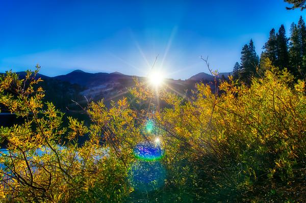 Sunrise over Fremont Lake