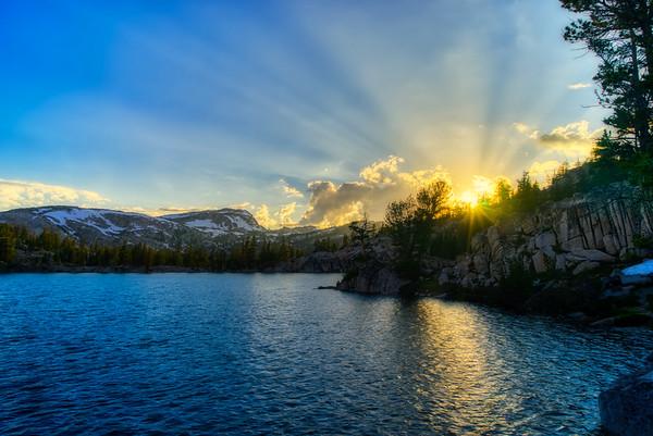 Peeler Lake at sunset