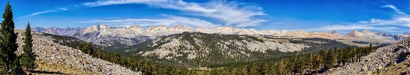 Panorama from near Bighorn Plateau
