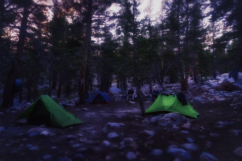 Camp near Tyndal Creek