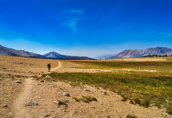 Chris up ahead on Bighorn Plateau