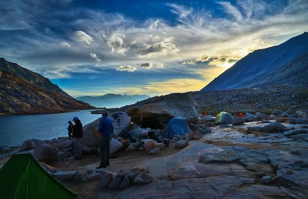 Twilight at camp