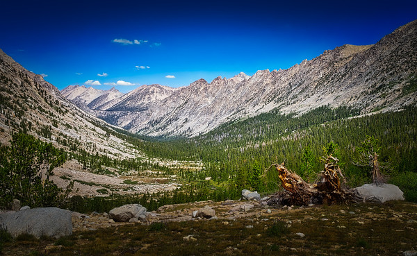 Looking back down the Bubbs Creek drainage