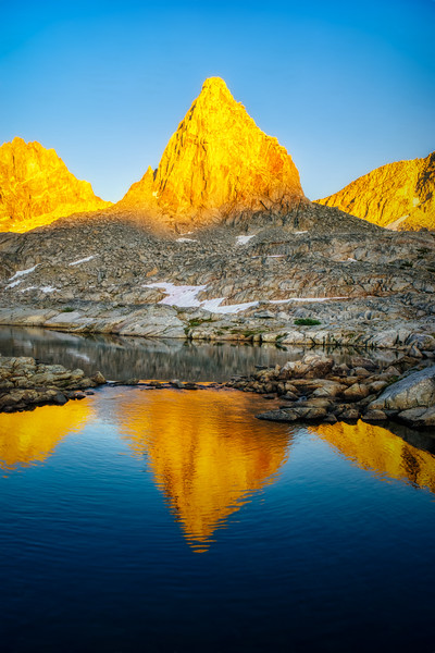 Isoscoles Peak at sunset (vertical)