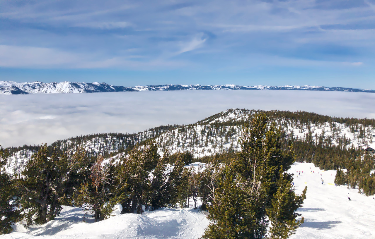 A beautiful day above the inversion layer covering Lake Tahoe.