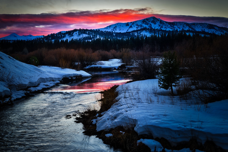 A Winter Sunset over the Sierras