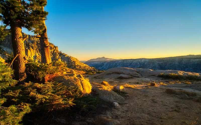 Mokelumne Peak and Mokelumne Canyon at sunset