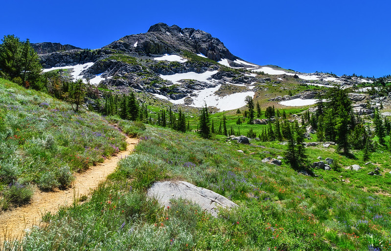 The Trail from Woods Lake to Round Top