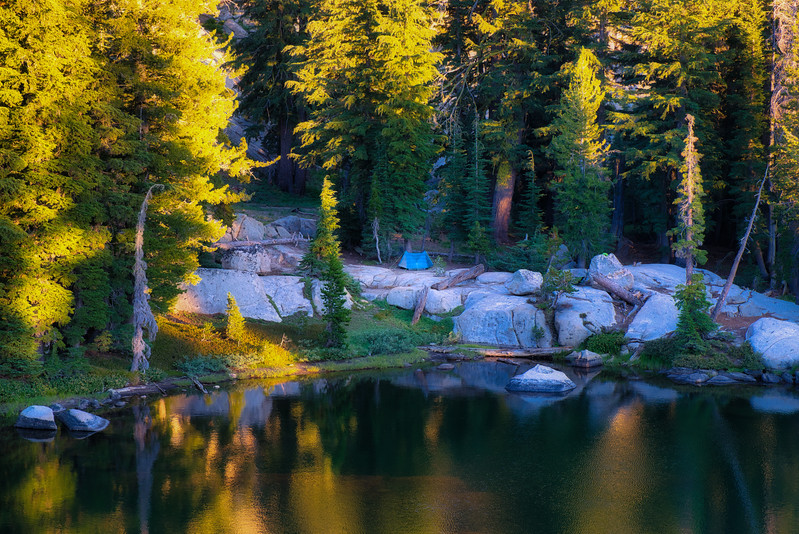 Camp at Grouse Lake