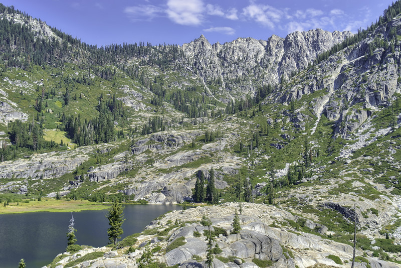 Upper Canyon Creek Lake and the Trinity Alps