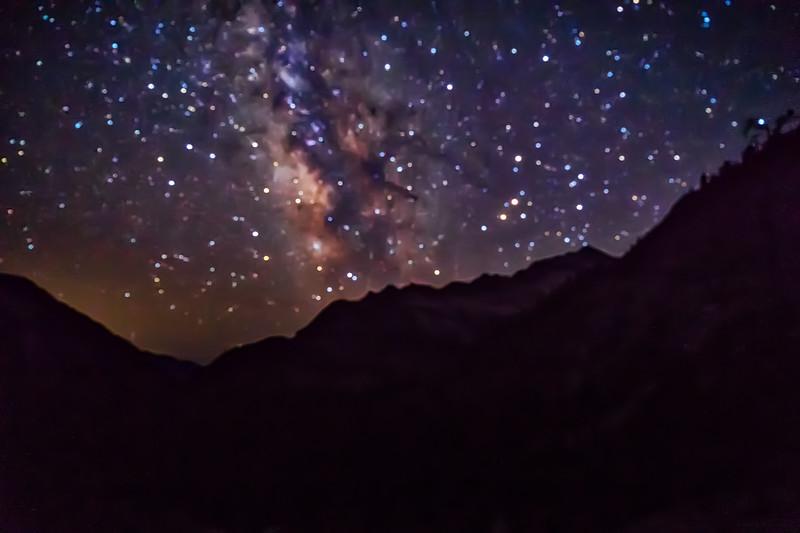 Stars over Canyon Creek Lakes