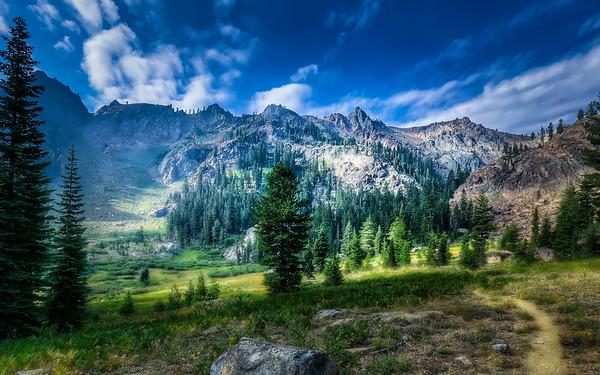 Upper Bear Basin Meadows and Seven Up Peak