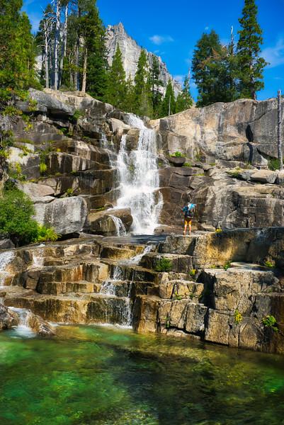 Josh Admiring Canyon Creek Falls