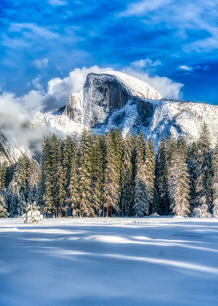 A snowy afternoon in Yosemite Valley