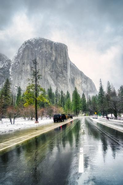El Capitan right before the winter storm hit Yosemite Valley