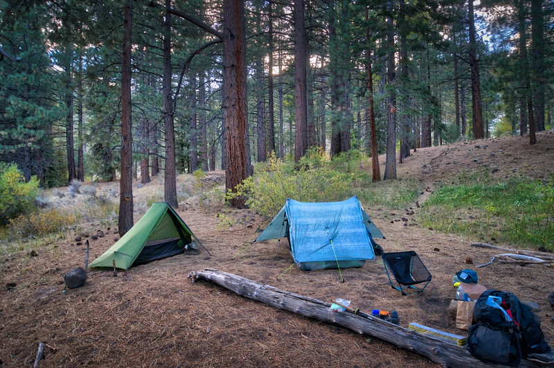 Camp at the junction of the High Trail and the River Trail