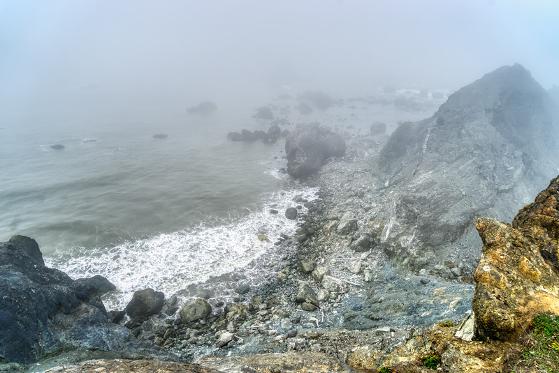 One of the coves along Blacklock Point