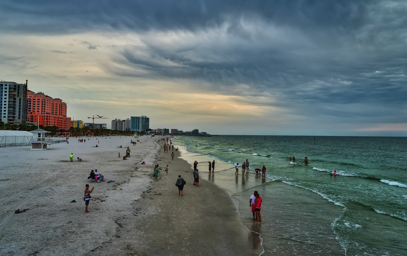Sunset at Clearwater Beach (looking South)
