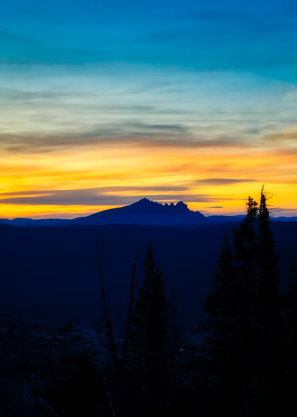 Sierra Buttes Silhouette at sunset