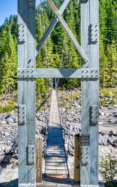 The Carbon River Suspension Bridge