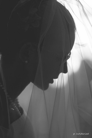 La mariée avant la cérémonies